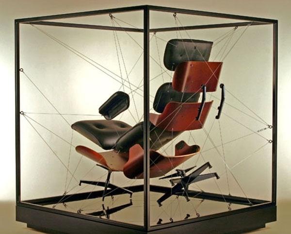 Eames Lounge Chair Sculpture Exhibit