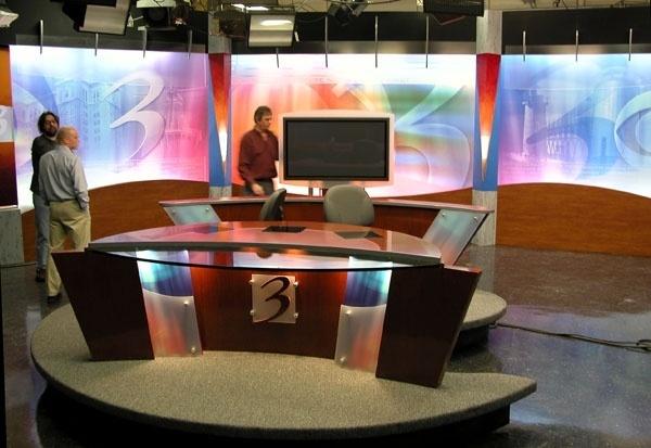 WWMT TV News Set