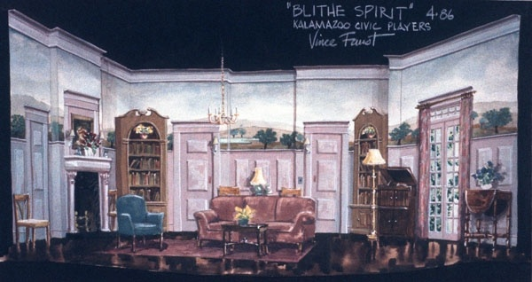 Set Design Artwork Artist And Theatre Stage Designer Vincent Faust Santa Fe New Mexico