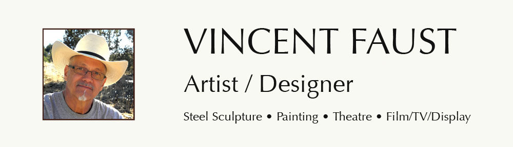Artist and theatre stage designer Vincent Faust, Santa Fe, New Mexico